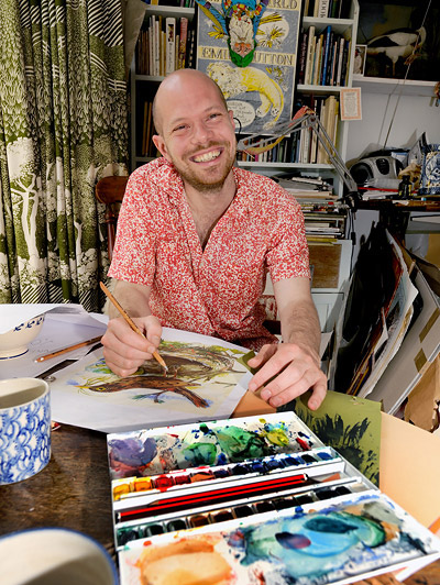 Since his childhood days  Mark Hearld has had a love for nature and