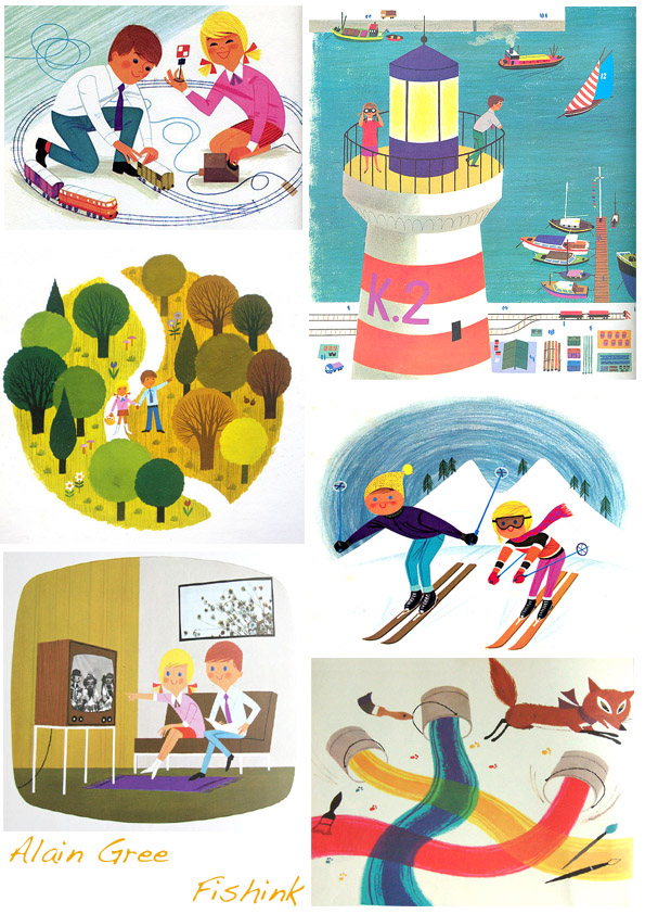Alain Gr/ée Works by the French Illustrator from the 1960s-70s