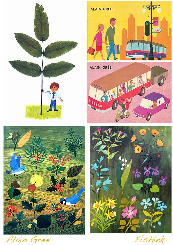 Alain gr e 1960 s illustrator and author fishinkblog 39 s blog for Children s fish book