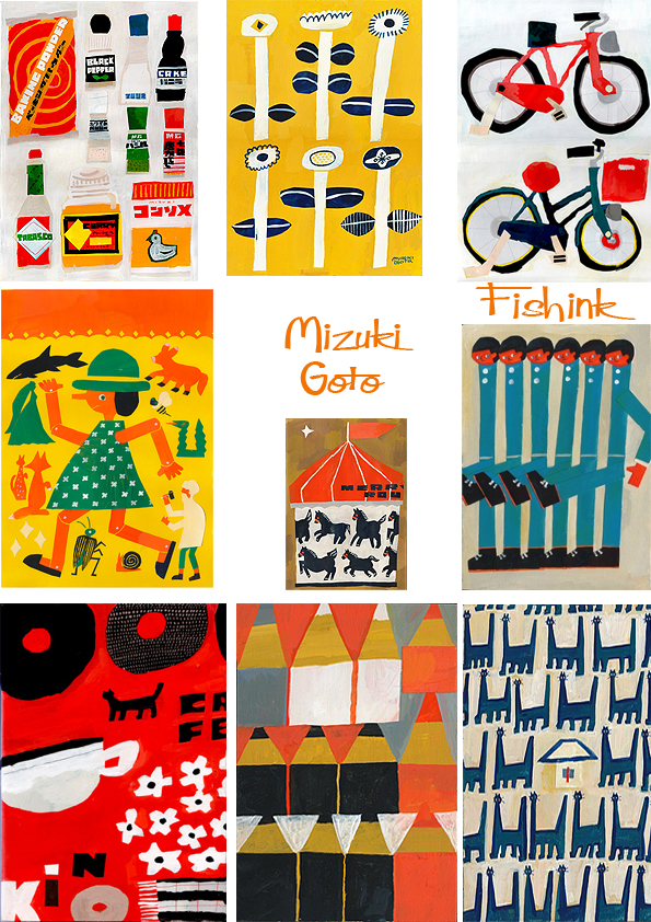 Goto Japan  city pictures gallery : Mizuki Goto Japanese Collage Artist |