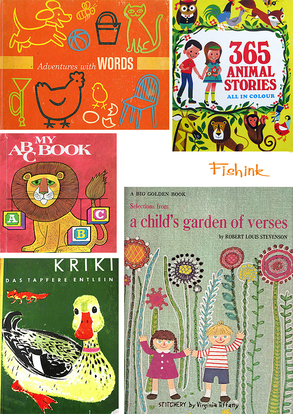 Vintage Children S Book Cover Prints ~ Children s vintage book covers