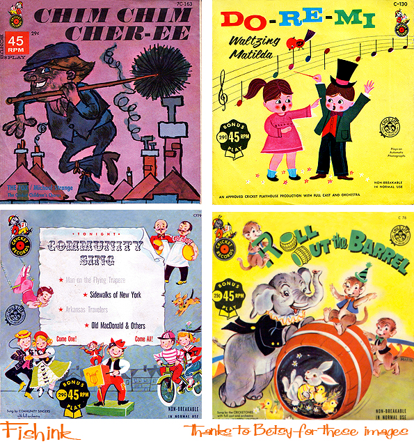 Fishinkblog 6055 Vintage Record Covers
