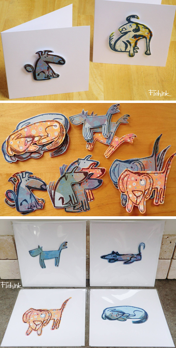 Fishink Dog Cards
