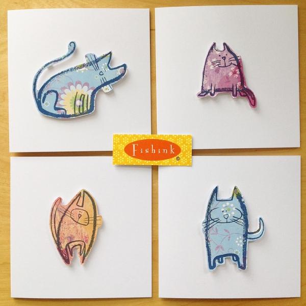 Fishink 3D Cat Cards 1