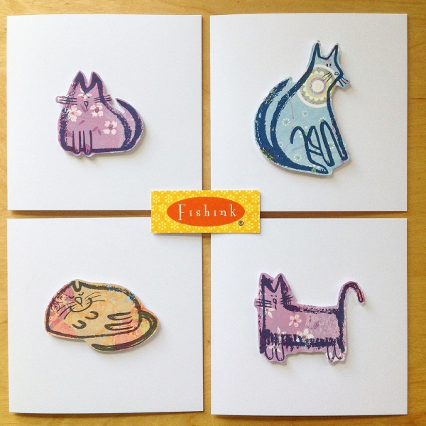 Fishink 3D Cat Cards 2