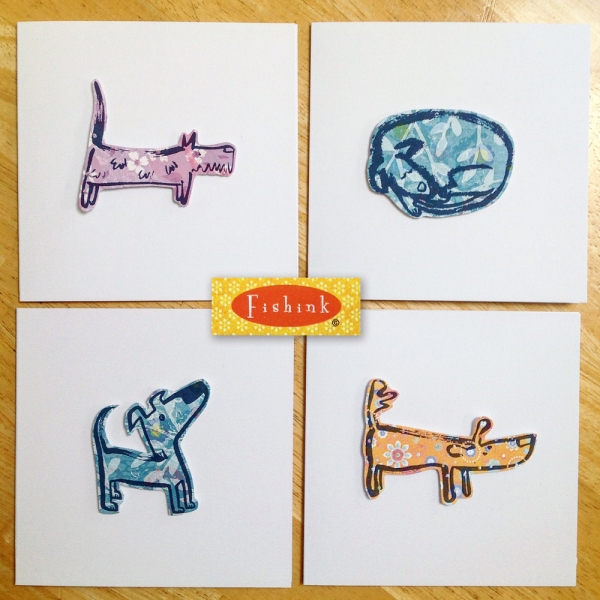 Fishink 3D Dog Cards 1