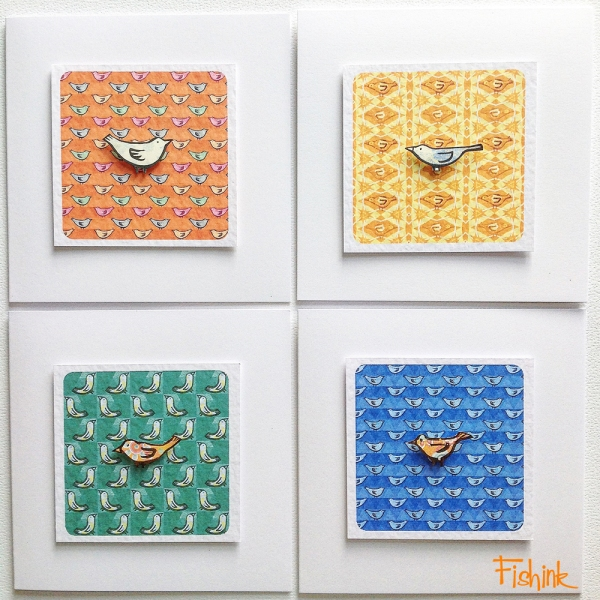Fishink Textile Bird Cards 1