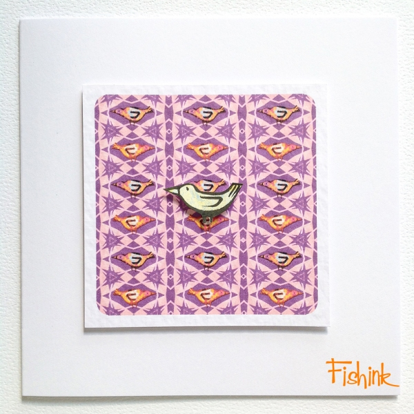 Fishink Textile Bird Cards 2