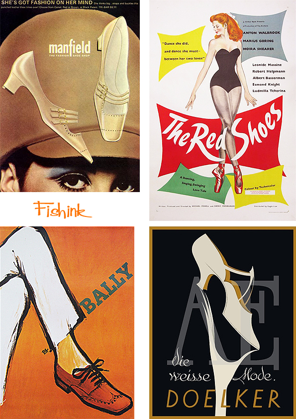 Fishinkblog 9662 Vintage Shoe Posters 6
